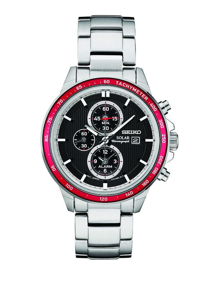 Seiko Men's Solar Chronograph Watch w/ Stainless Steel Bracelet $99 + Free Shipping