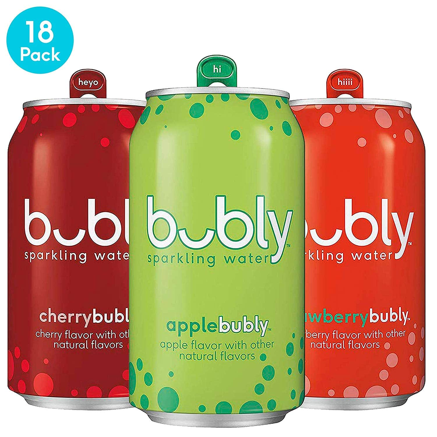 18-Pack of 12oz Bubly Sparkling Water (3-Flavor Variety Pack)
