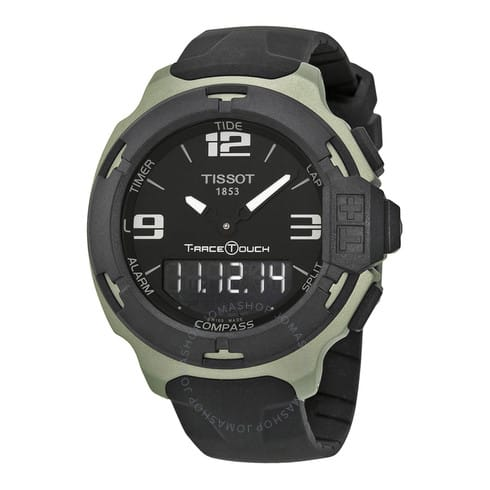 Tissot T-Race Touch Men's Watch (Black Dial / Black Rubber Band)