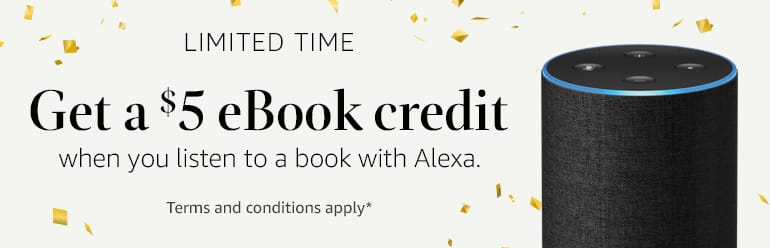 Amazon Get $5 ebook credit when you listen to book with Alexa YMMV