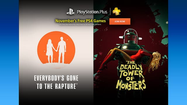 Playstation Plus November Free Games Everybody's Gone to the Rapture PS4, Letter Quest Remastered Vita, Costume Quest 2 & Dirt 3 PS3 + More