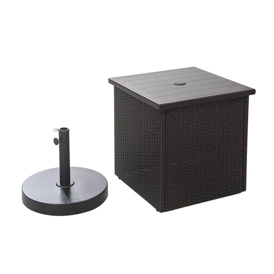 [YMMV] Square Wicker Outdoor End Table with Umbrella Hole $59
