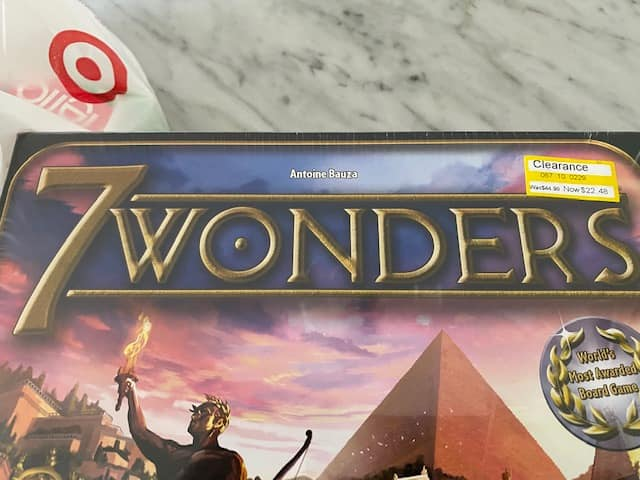 7 wonders board game $22.48 on clearance in store at Target