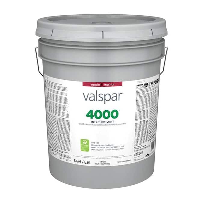 Valspar Eggshell Interior $29.60 and Flat White $26