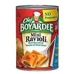 Chef Boyardee Mini Ravioli, 15-Ounce Units (Pack of 24) as low as $12.60 AC on 15% S+S (Amazon)
