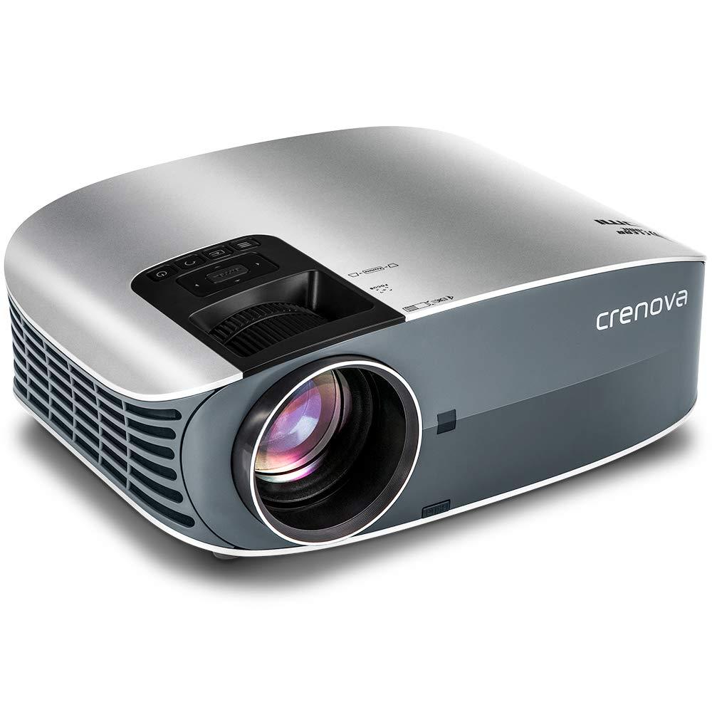 "HD Projector (+80% Brightness) Crenova 200"" 1080P HD Portable Projector with USB/Micro SD/AV/HDMI/VGA Input $130.55"