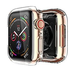 Apple Watch 4 Clear Case with Buit in TPU Screen Protector 44mm- All Around Protective Case High Definition Clear Ultra-Thin Cover Apple iwatch 44mm Series 4 (2 Pack) $0.99