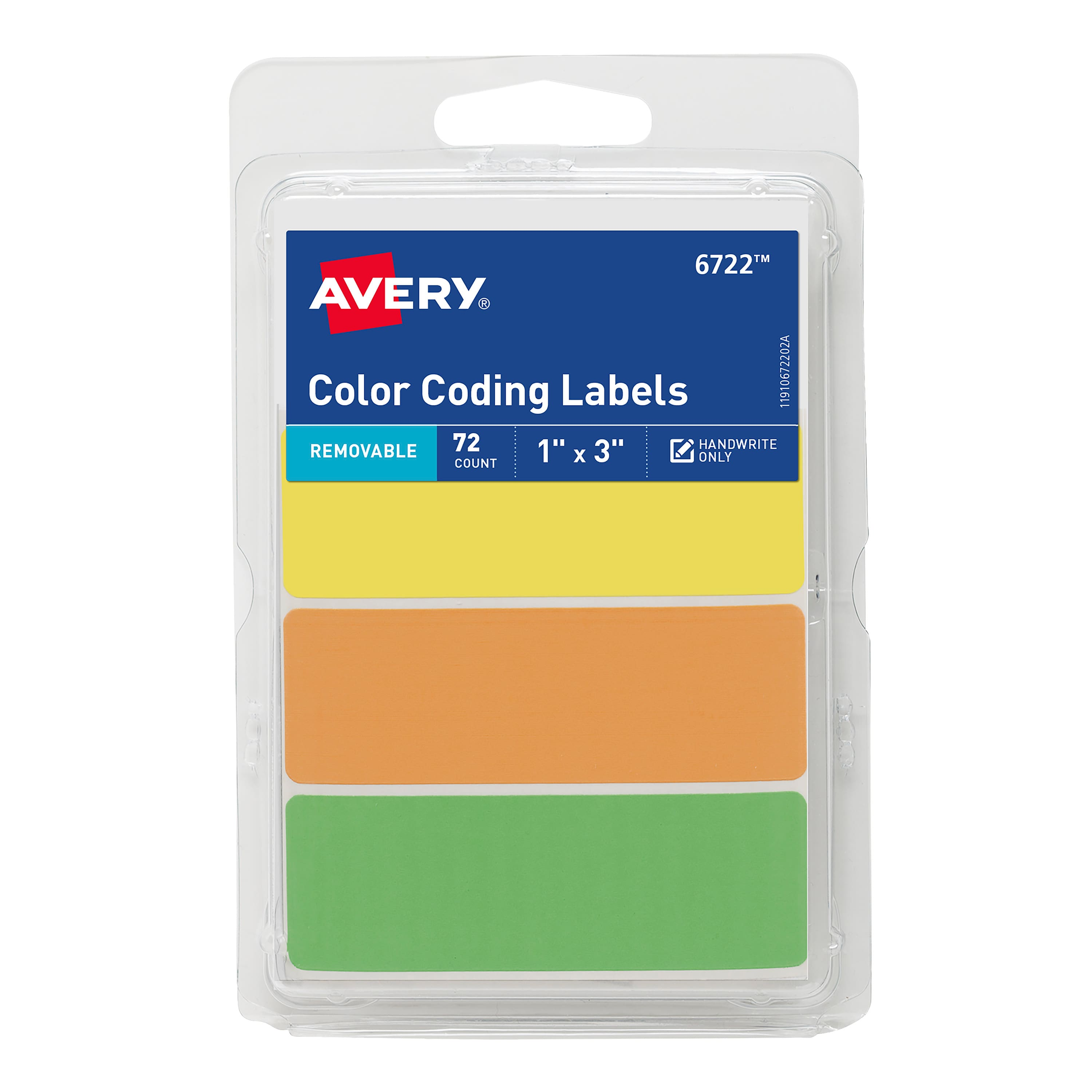 Avery Rectangular Color Coding Labels, 1 x 3 Inches, Assorted, Removable, Pack of 72 $1.68 Amazon