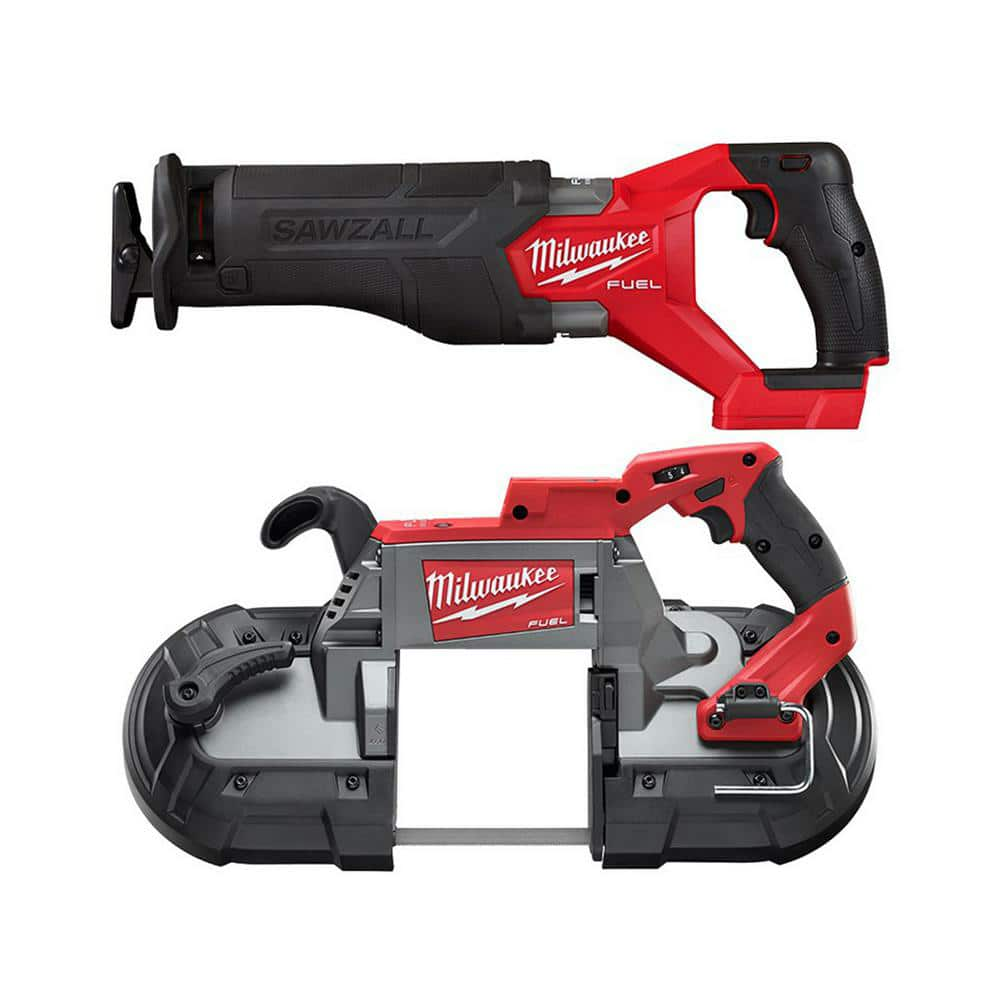 Milwaukee M18 FUEL GEN-2 18-Volt Lithium-Ion Brushless Cordless SAWZALL Reciprocating Saw with Deep Cut Band Saw (Tool-Only)-2821-20-2729-20 - The Home Depot $379.00