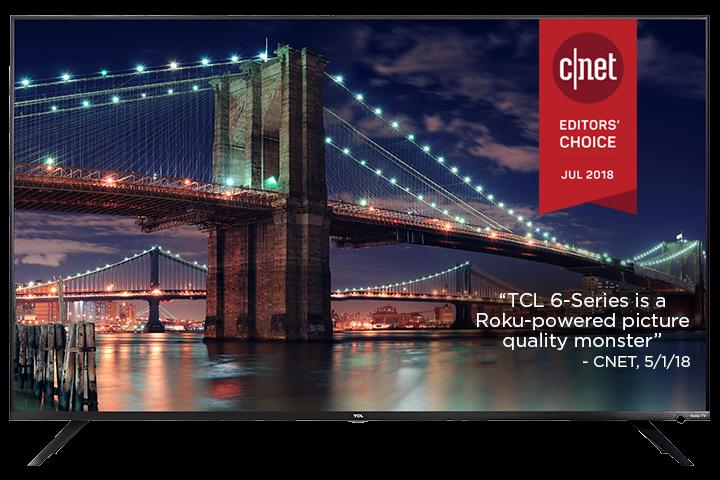 "TCL 55"" Class 6-Series 4K UHD Dolby Vision HDR Roku Smart TV - 55R617"