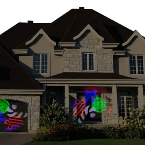 Starscapes Lights LED Spot Projection for Doors & Windows, Holiday Shapes and Images Candy Cane, Ornament, Gift, Bow $9.99