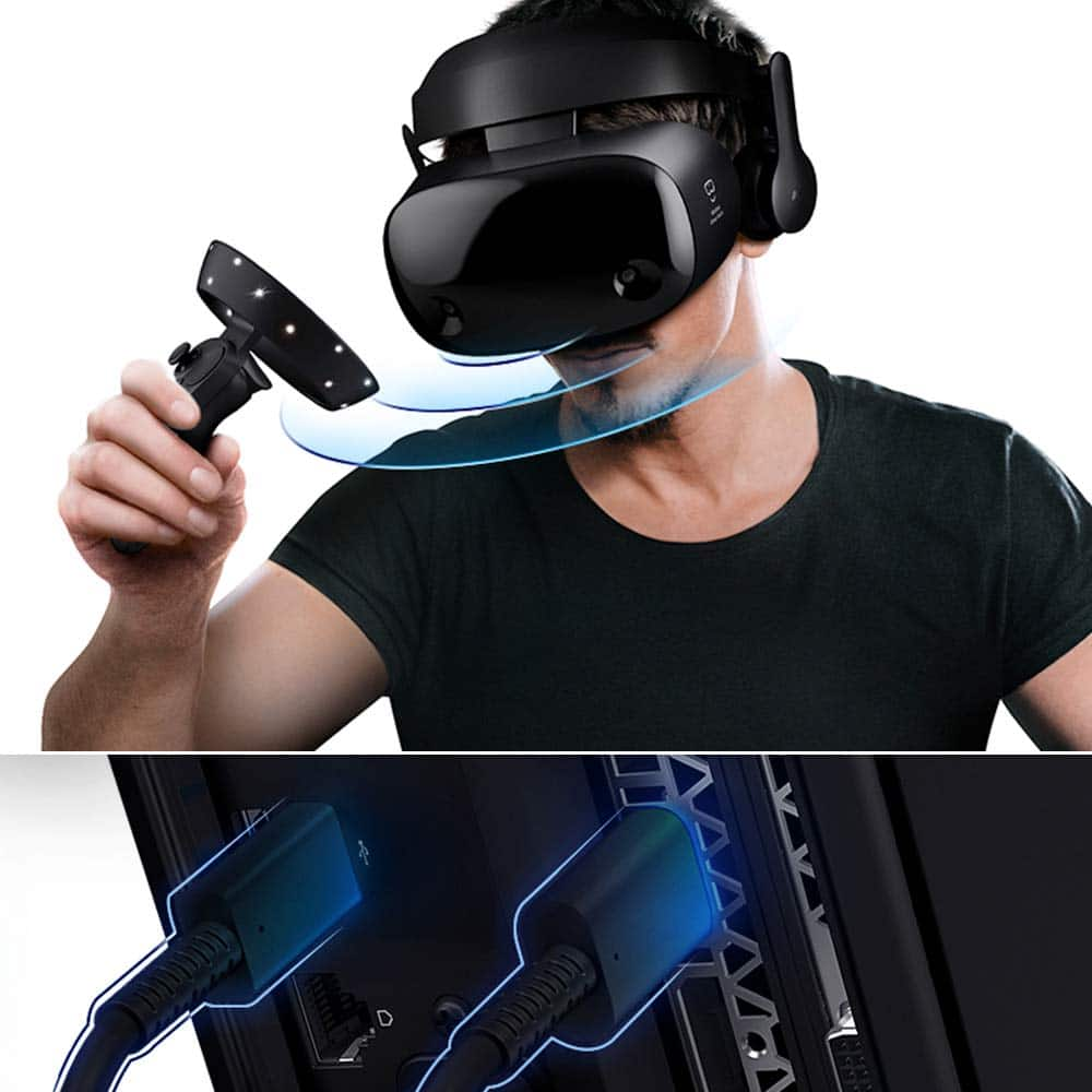 Samsung Electronics HMD Odyssey+ Windows Mixed Reality Headset with 2 Wireless Controllers Black (XE800ZBA-HC1US) $279 Free Prime Shipping