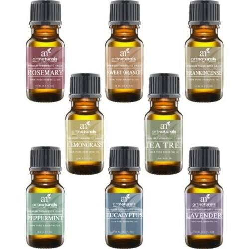 $11 ArtNaturals Aromatherapy Top 8 Essential Oils, 100% Pure of The Highest Quality Therapeutic Grade