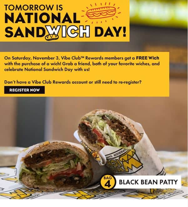 whichwich - Buy one get one free for vibe club rewards members