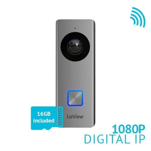 LaView 1080P WiFi Doorbell IP Security Camera no subscription needed Amazon Prime $129.99