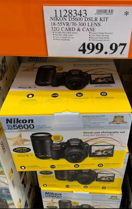 YMMV: Nikon D5600 2 Lens Bundle Costco B&M $499.97