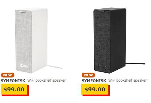 Ikea Sonos powered speakers available now in stores $99