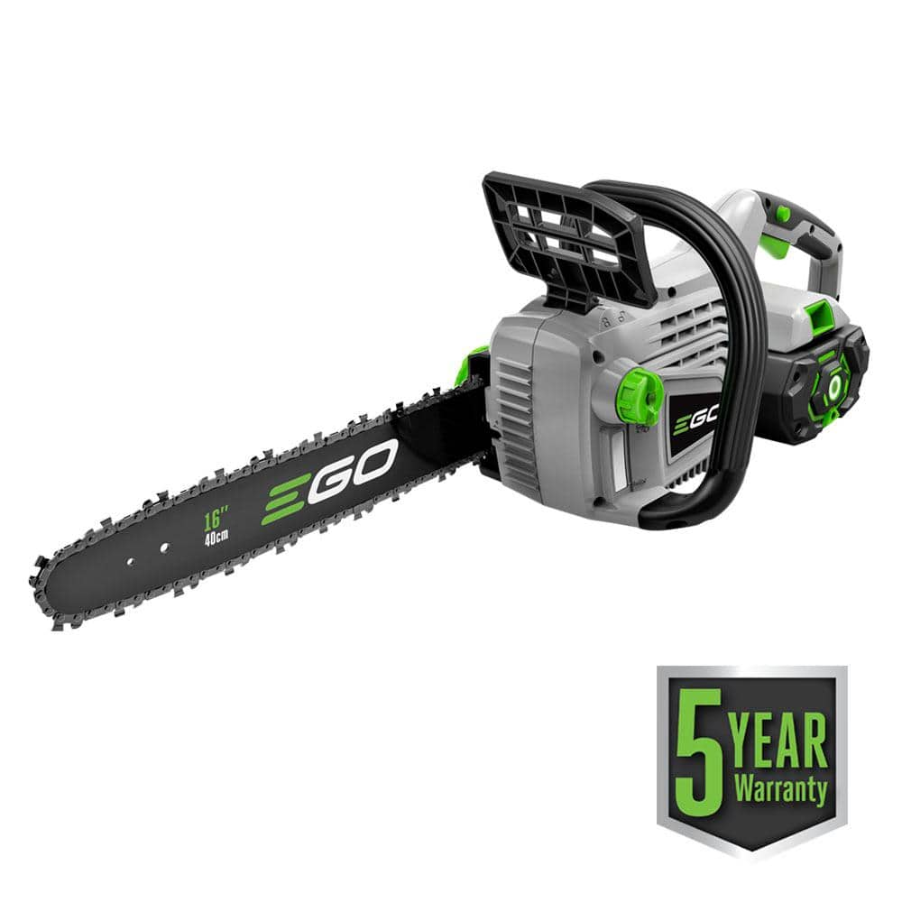 "EGO 16"" Chainsaw with 5Ah battery and charger $225 using Google Express coupon EXTRA25"