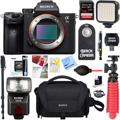 Sony a7III Mirrorless Digital Camera Body + 128GB Memory & Flash Accessory Bundle $1998