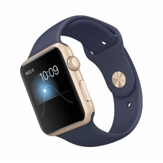 Apple watch 42mm geek certified refurbished gold color aluminum case for 189.99 + tax