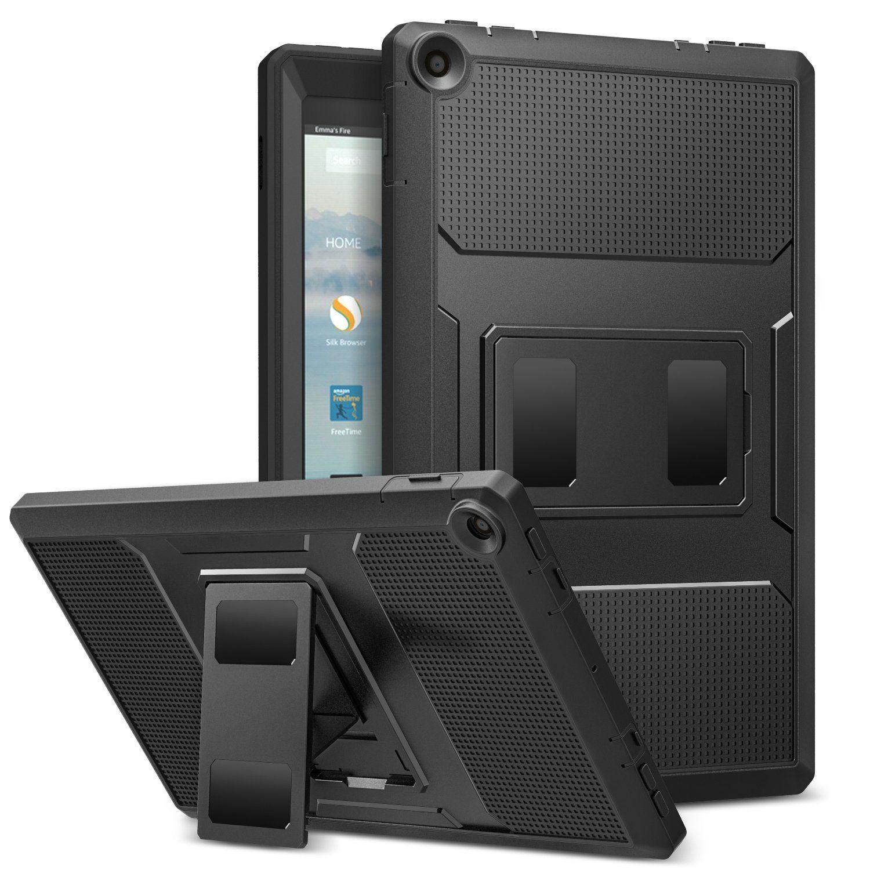 MoKo Heavy Duty Protector Case for Amazon Fire HD 10 7th gen $7.99