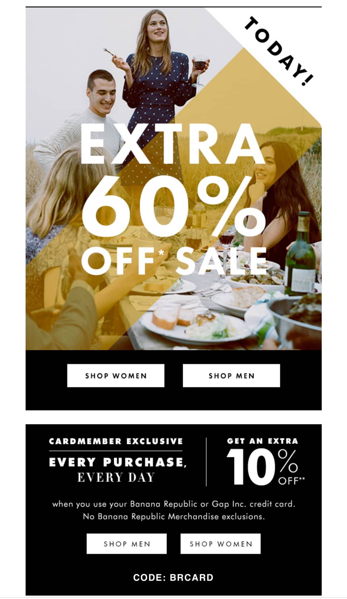 60% off Sale Items Minimal Exclusions at Banana Republic in Store and Online +10% with Gap Family Card