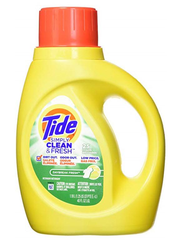 Tide Simply Clean & Fresh  Detergent,  40oz bottle, $2.50