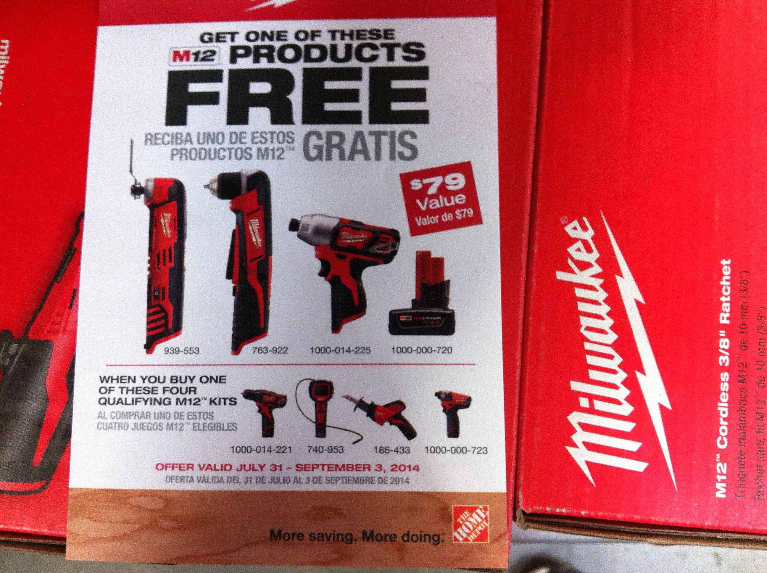 """Milwaukee M12 """"Drill/Driver & Impact Driver combo"""" $99 and more other options@Home Depot, B&M."""