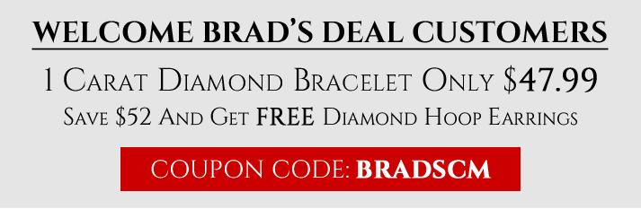1ct Diamond Bracelet + Hoops $48 Shipped! $47.94