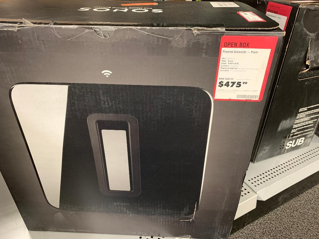 Sonos Sub, Best Buy Outlet, $476 or lower, Extreme YMMV