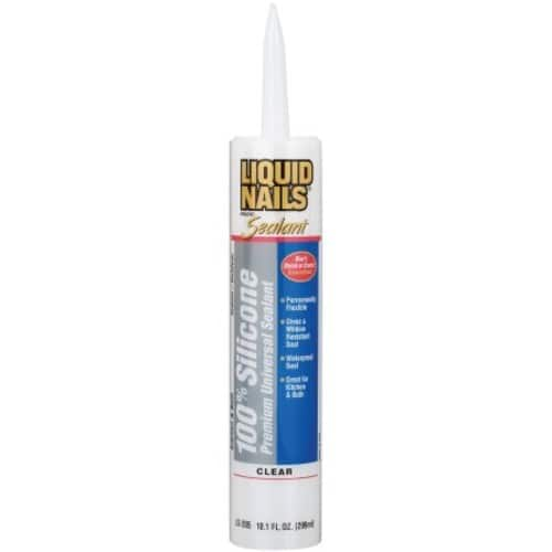 Liquid Nails (Clear Silicone) Premium Universal Sealant, 10.1 oz tube [In-Store only] $1 at Walmart