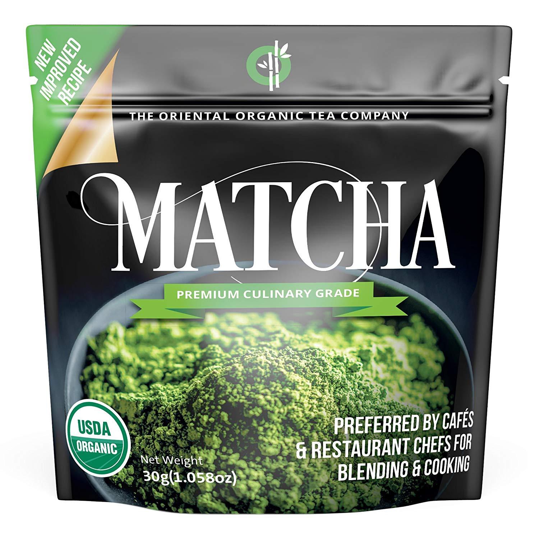 Organic Matcha Green Tea Powder (Premium Culinary Grade) - USDA & Vegan Certified $4.69