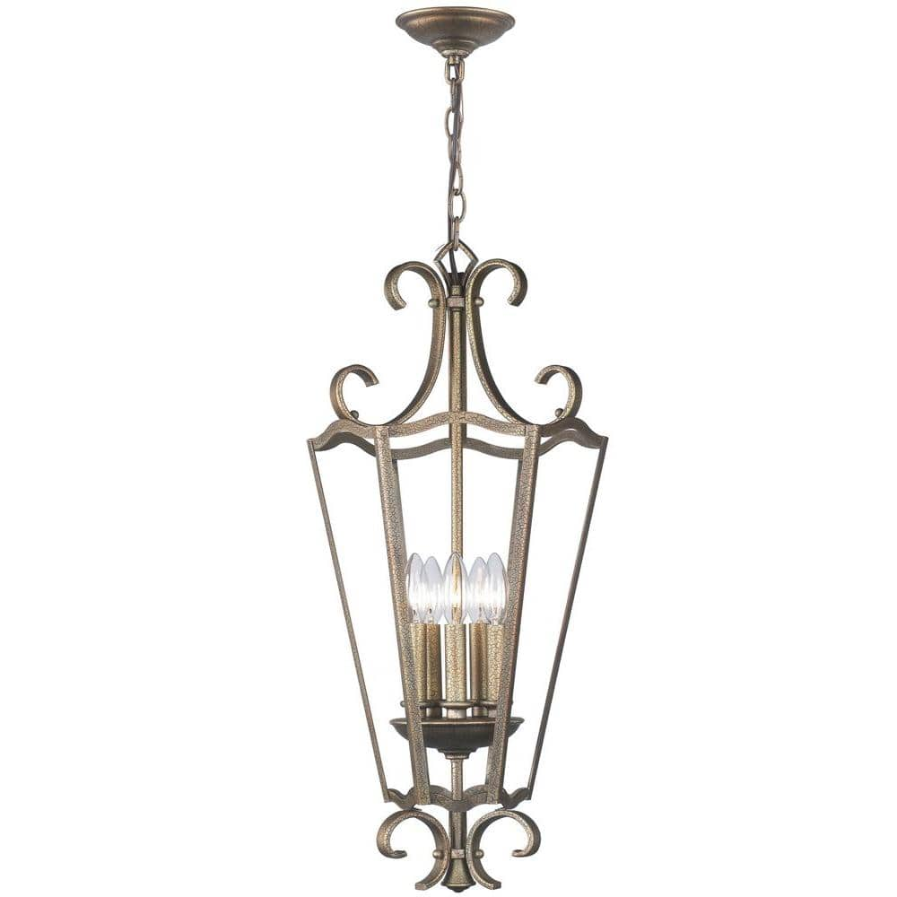 World Imports 5 Light Distressed Br Pendant 42 23 Ship