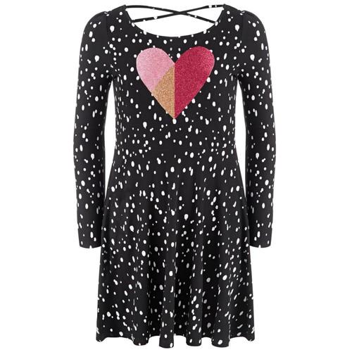 Epic Threads Toddler Girls Dot Heart Dress $7.13