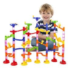 Marble Run Railway Toy BATTOP Marble Run Coaster Railway Construction Child Building Blocks DIY Game for Over 4 Years Old Kids $13.49