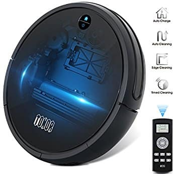 Robotic Vacuum Cleaner Sweeper, Upgraded Auto Charging/Strong Suction/Infrared Sensor/Drop Sensing - Amazon - $154 after coupon