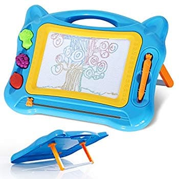 Kids Magnetic Drawing Board Toy with Stand and 3 Stamps - $11.99 after discount - Prime