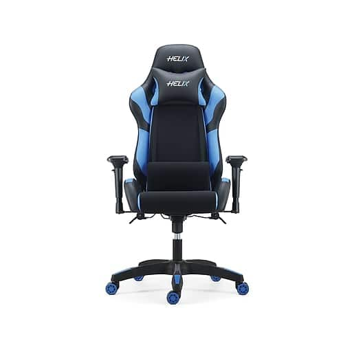 Marvelous Staples Helix Fabric Racing Gaming Chair 129 99 Machost Co Dining Chair Design Ideas Machostcouk