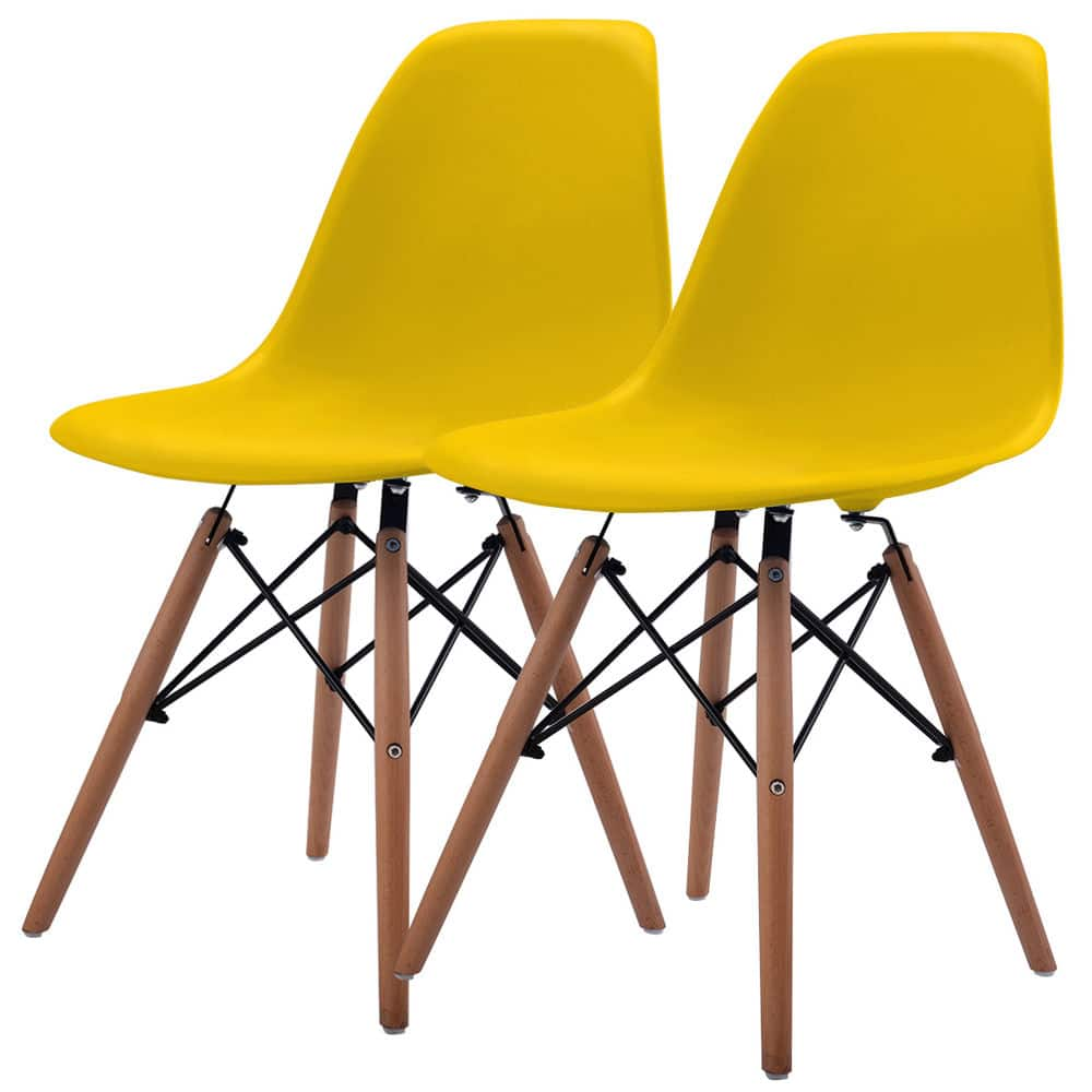 Mid Century Modern Eames Style Chair (Set of 2) - $54.99 + FS @ebay.com