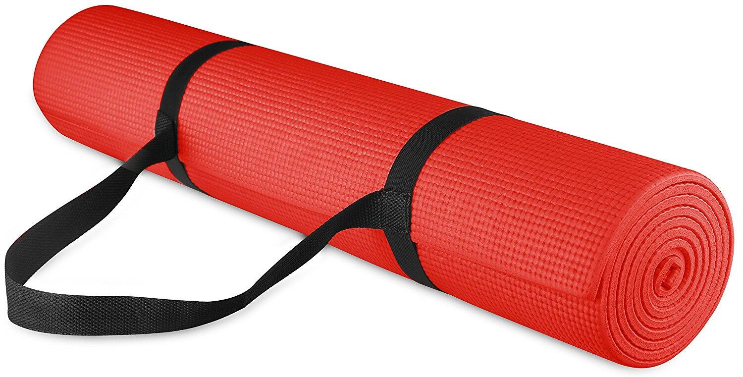 "BalanceFrom GoYoga All Purpose High Density Non-Slip Exercise Yoga Mat 68 x 24 x 1/4"" with Carrying Strap $10.67"