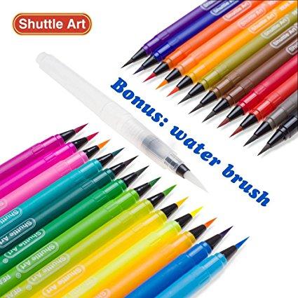 shuttle art  25+1 watercolor brush pen set (Shuttle Art), 20% off = $15.99 ...