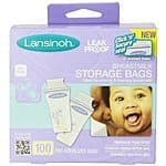 Lansinoh Breastmilk Storage Bags, 100 Count $13.67 + FREE Shipping