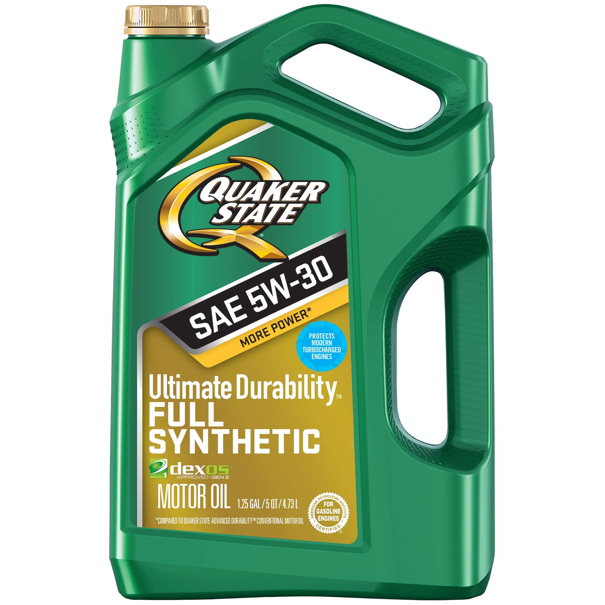 (3 Pack) Quaker State Ultimate Durability 5W-30 Dexos Full Synthetic Motor, 5 qt