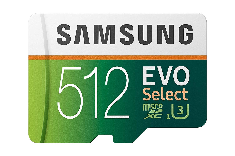 Samsung 512GB microSD U3 $64.99 + 15% back Amazon Prime Visa @ Amazon.
