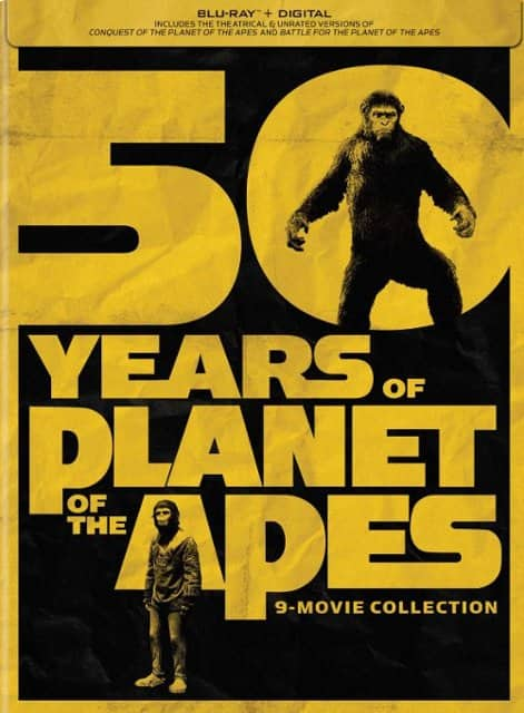 Planet of the Apes: 9-Movie Collection [Blu-ray] and Digital $34.99