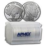 APMEX - 1 oz Silver Buffalo Round (Lot, Roll, Tube of 20) - ONLY $1.15 OVER SPOT PER ROUND!