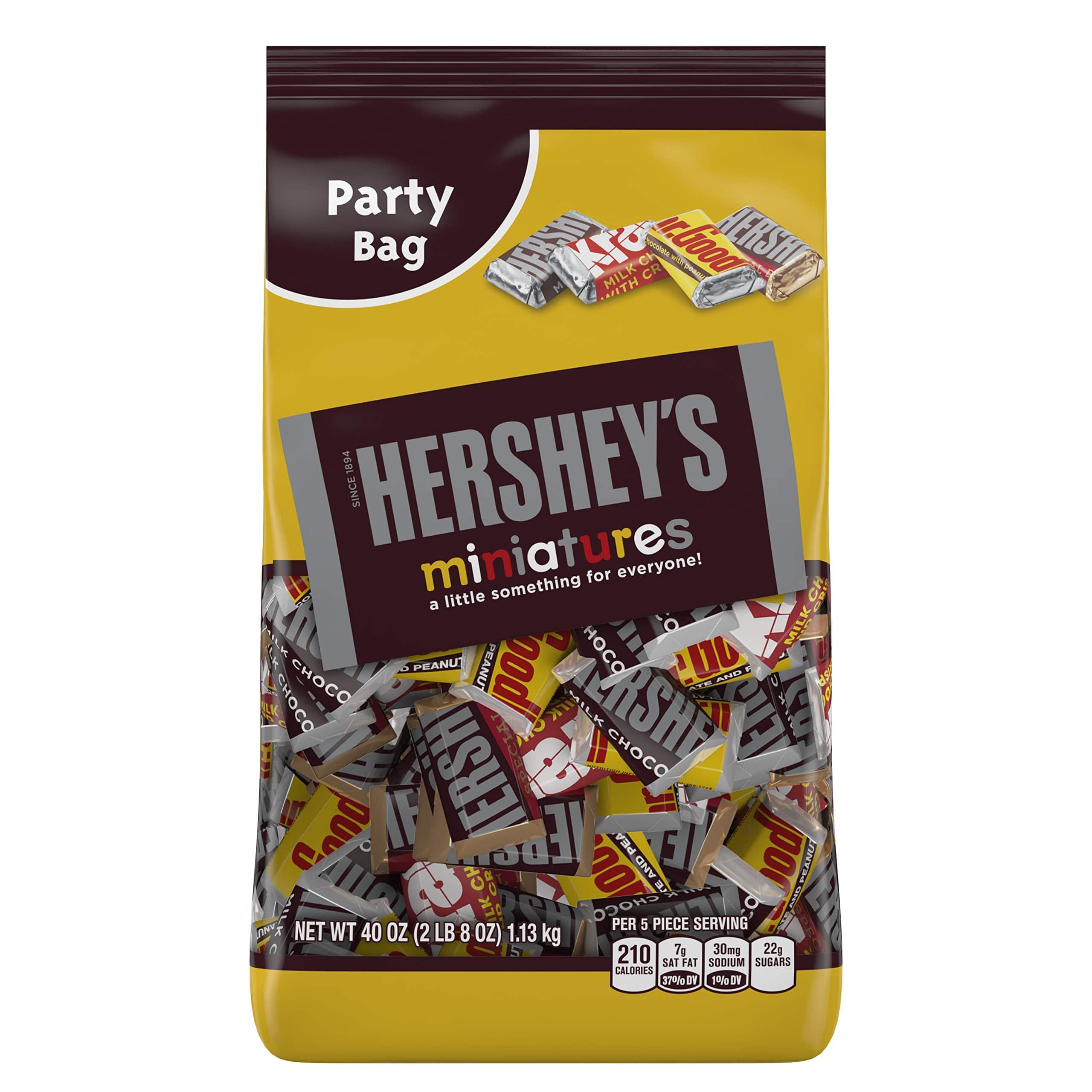 Many great candies at only .24/ounce on Amazon!  Reeses minis 40 oz $9.44, Hershey's Kisses 40 oz $8.56, Assorted minis 40 oz $9.44