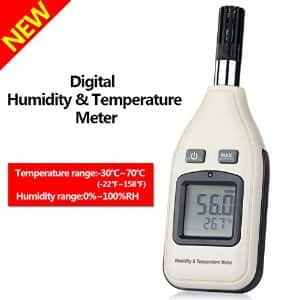 Handheld Digital Humidity and Temperature Monitor -- $18 (with $8 coupon and Prime Shipping)