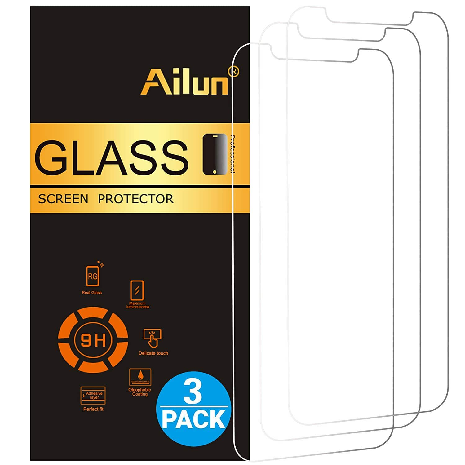 3- Pack Tempered Glass Screen Protector for iPhone X/10 for $3.99 no coupon need it + FS ONLY w/ Prime