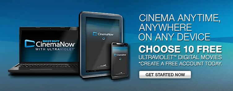 CinemaNow: 10 Free UltraViolet SD Movies for New Accounts
